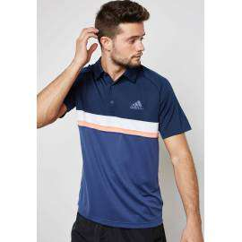 Pull Homme Adidas Club Colorblock Polo (bleu-blanc-saumon)